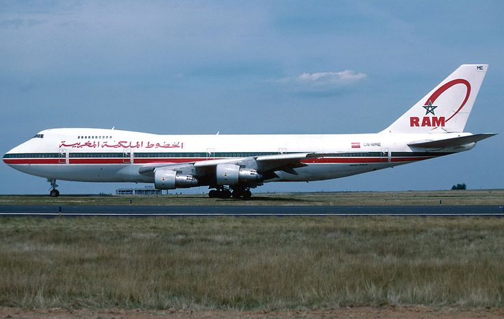 Royal Air Maroc Boeing 747-200B at Charles de Gaulle Airport in 1996