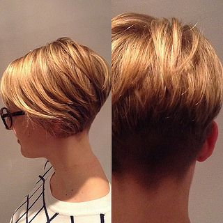 Layered asymmetrical inverted bob with clippered nape (18809 | by short hairstyles and makeovers)