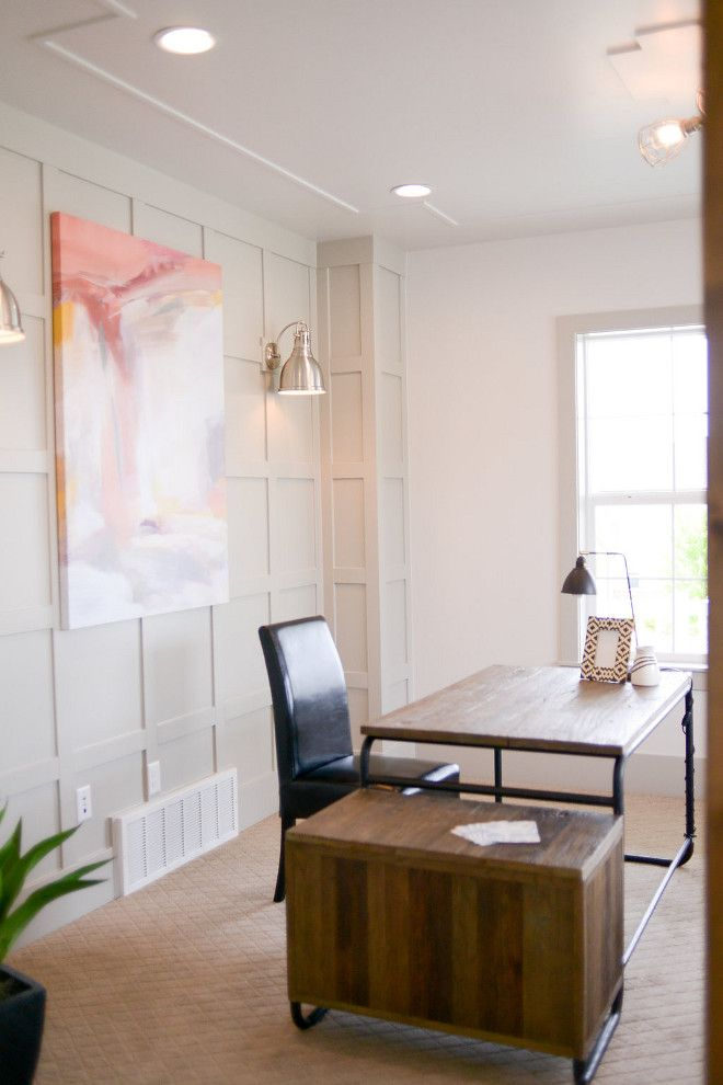 The Paint Color Is SW7016 Mindful Gray By Sherwin Williams