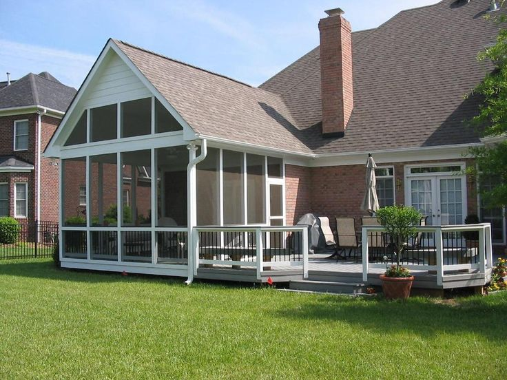 pictures of decks with screened porches large screen porch with gray deck screened porches - Back Porch Patio Ideas