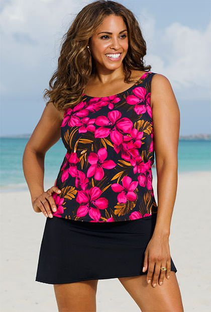 Beach Belle Oasis Plus Size Skirtini
