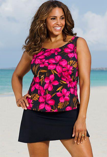 Beach Belle Oasis Plus Size Skirtini