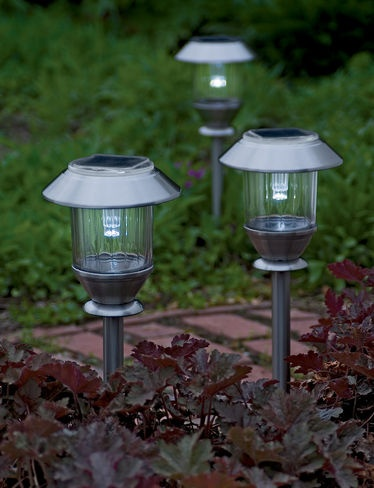 solar yard lights home depot led landscape reviews batteries path powered