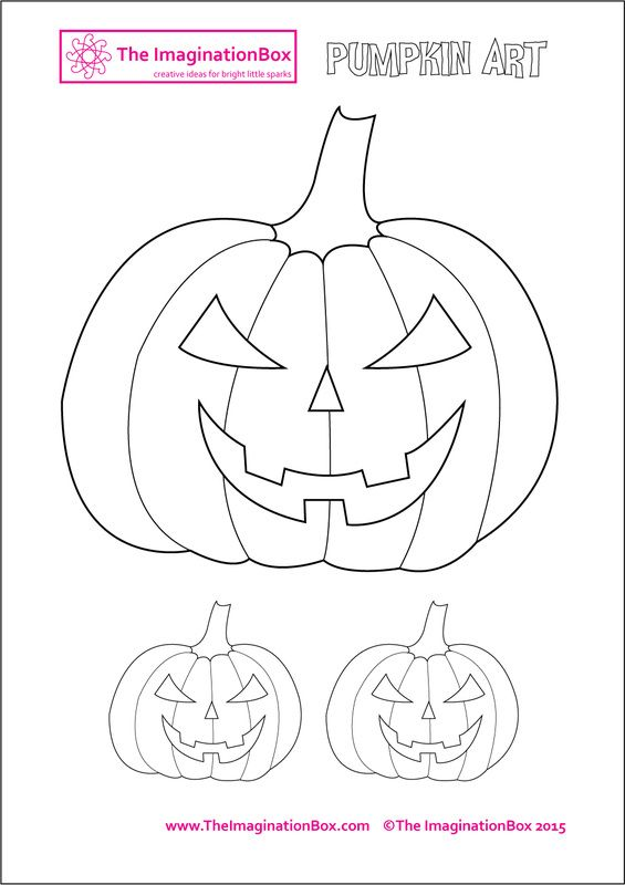 The ImaginationBox: Halloween pumpkin template, free to download