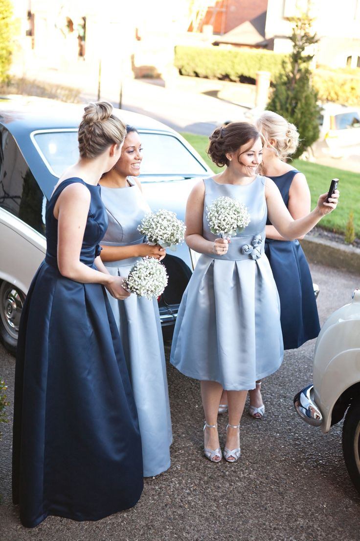 An Elegant 'Audrey Hepburn', 50's Inspired blue bridesmaid dresses - Jo Hastings Photography Not blue Not long