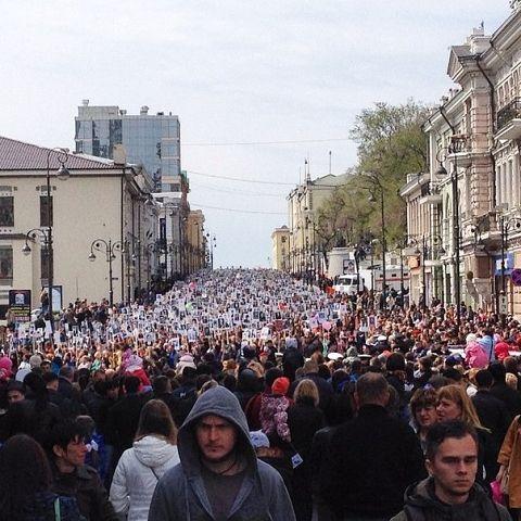 Бессмертный Полк. День 70 лет Победы во Владивостоке: Парад на земле, на воде и в воздухе Больше 40 тысяч человек наблюдали военную мощь страны в приморской столице