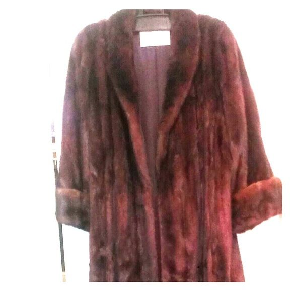 Mink Coat LADIES 1000$ PRICE CUT!!!!! Ladies Full length Mahogany Mink Coat with Silk lining kept in Cold storage. worn twice in excellent condition. Beautiful !!! Comes with bag for storage. 1000$ PRICE. CUT!!!!BEST OFFER ACCEPTED Muscalus Furs Jackets & Coats