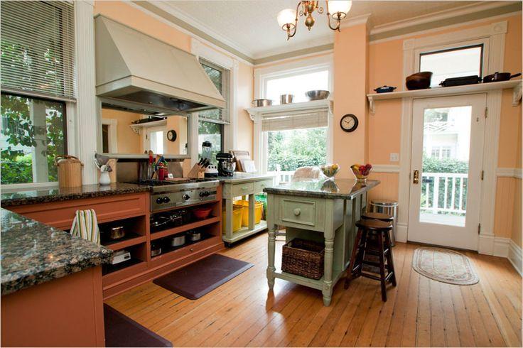 Best 25 peach kitchen ideas on pinterest cottage for Peach kitchen ideas