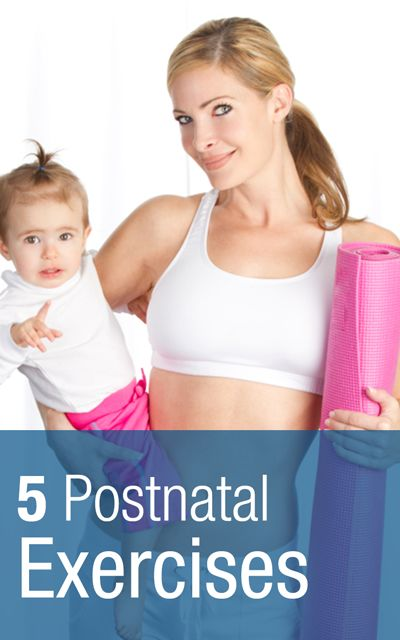 5 Postnatal exercises to lose the baby weight | http://Scrubbing.in