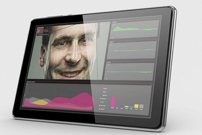 Usando a webcam de um PC, tablet ou smartphone, o software nViso reconhece e avalia 143 pontos da face humana e o movimento dos olhos para distinguir e analisar reações. Com ele, institutos de pesquisa já podem apresentar um produto, filme ou anúncio, sem se preocupar com questionários. Na INFO Online.