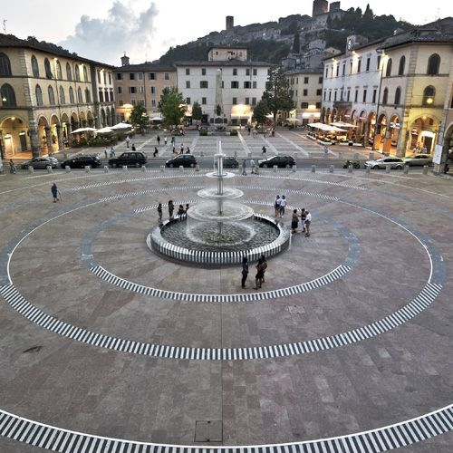 Amazing plaza in Tuscany with Architecte Jean-Noël Picot design. Realized with SANTAFIORA stone from our own quarries in Tuscany - Italy