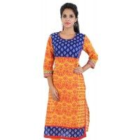 Product details : http://www.sirnmaam.com/women/clothing/kurtis-ladies/yellow-cotton-kurti-snm-1039/