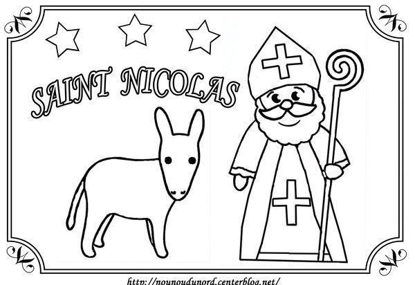coloriage saint nicolas en 2020 | Dessin saint nicolas, Dessin st