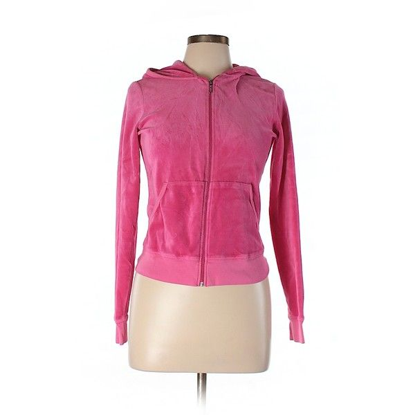 Pre-owned Juicy Couture Zip Up Hoodie Size 12: Pink Women's Tops ($29) ❤ liked on Polyvore featuring tops, hoodies, pink, zip up hoodie, juicy couture, juicy couture tops, hooded zip up sweatshirt and hooded sweatshirt