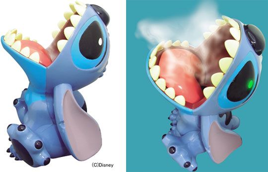 Stitch Humidifier. Who wouldn't want a Stitch figure that vomits moisture into the air.