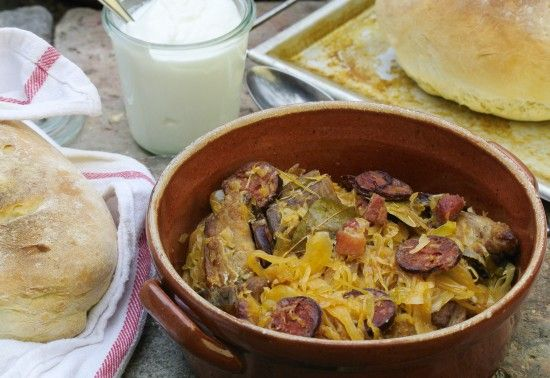 sauerkraut with pork ribs starvingchef