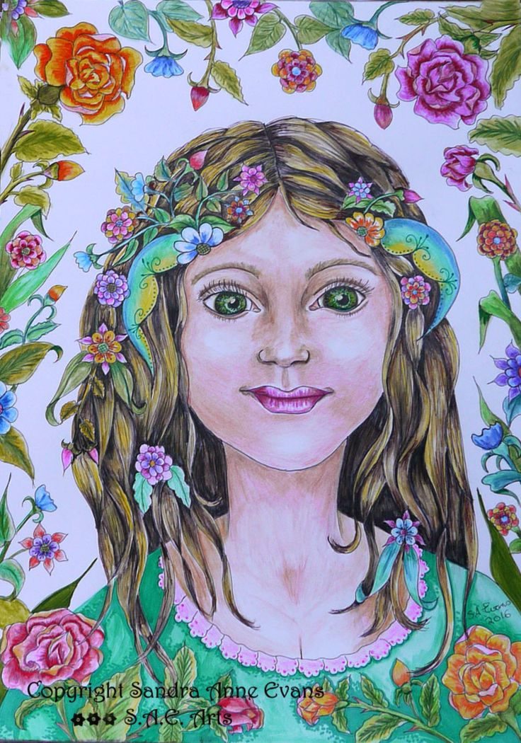 """Portrait of an unknown girl"" She came to me, in a dream, i know not who she is, but her eyes were alive and she was a beautiful and perfect as the English rose. http://www.saeart.com/"