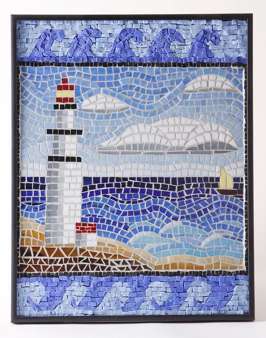 Lighthouse Seascape - Delphi Stained Glass