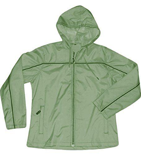 Ladies Apparel No. 5 Single Piping Smart Jacket Windbreaker,X-Large,Sage/Black Single Piping.Sage/Black Sing