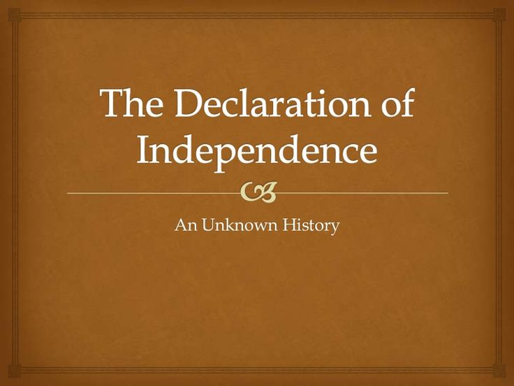 declaration independence day usa