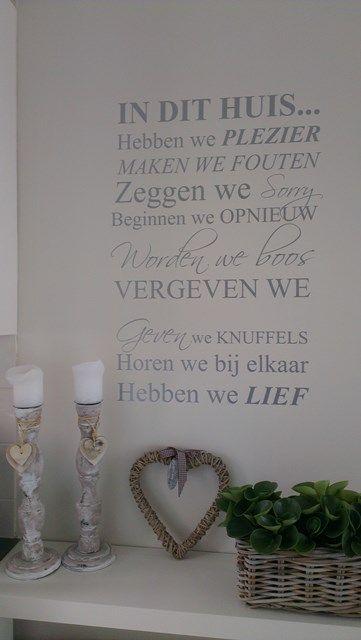 Mooie tekst voor op de muur of trap!