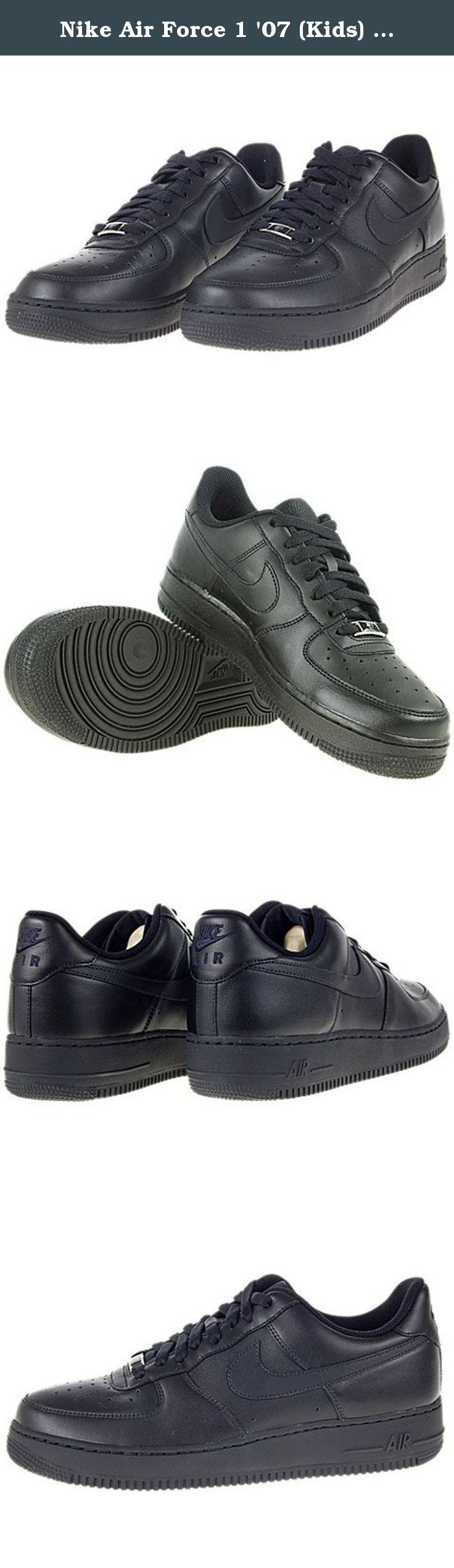 Nike Air Force 1 '07 (Kids) - Black / Black, 4.5 M US. Nike's Air Force 1 '07 youth retro shoes are one of if not the iconic basketball and retro shoe on the market today. They have been global leaders for 25 years, and just like the people that strap them on, they aren't going to be stopped anytime soon. If you are looking for the perfect shoe, the Nike's Air Force 1 '07 youth retro shoes are considered by a lot of shoe aficionados to be such a holy grail of footwear. The nice thing is…