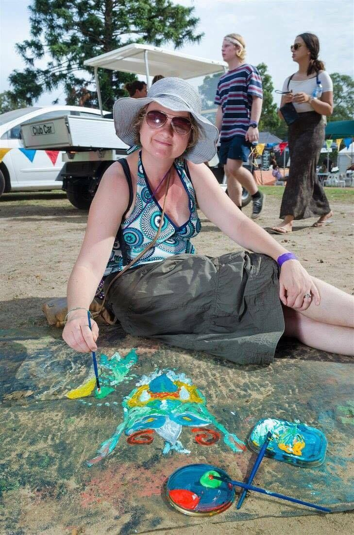 Some of the incredible paintings from our Rainbow Serpent Project at Fairbridge Festival. See more at www.fairbridgefestival.com.au  Photo by Richard Watson