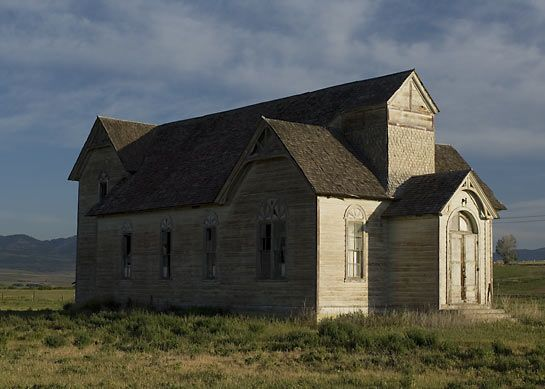 Located in Ovid, Idaho this former Latter Day Saints ward church, now abandoned and privately owned, stands as a testament of bygone days.