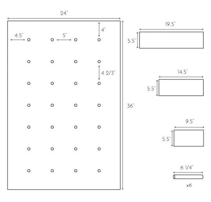 DIY-Projektidee: Wie man ein modernes Pegboard-Regalsystem herstellt