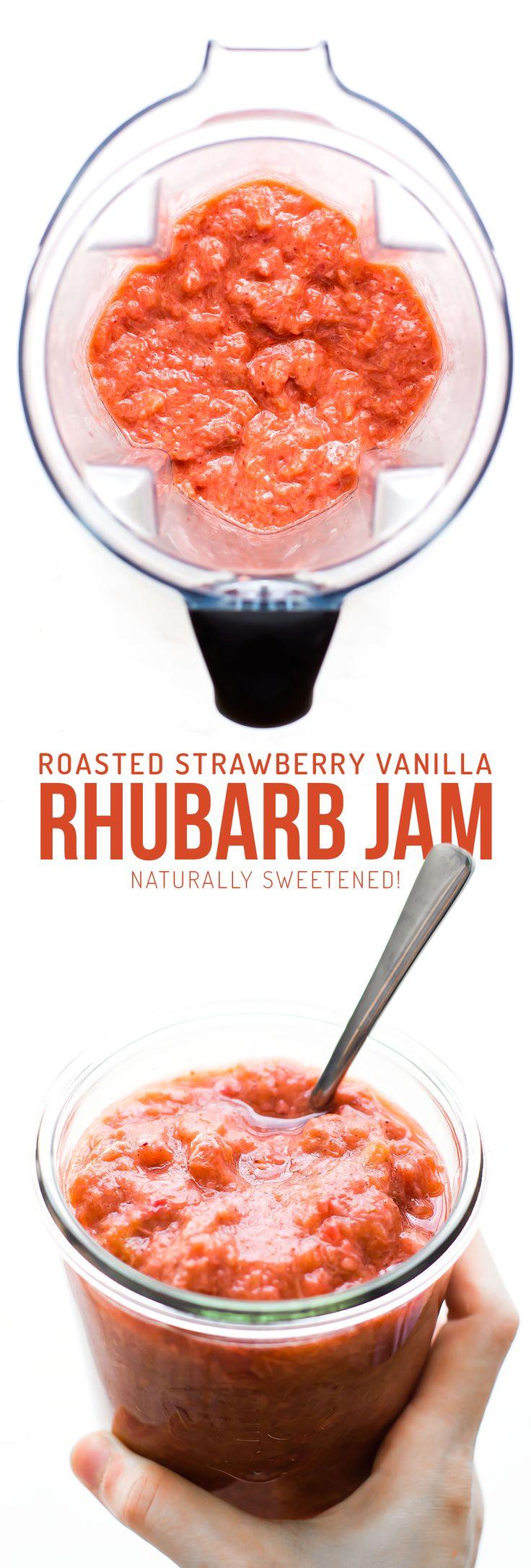 Roasted Strawberry Vanilla Bean Rhubarb Jam