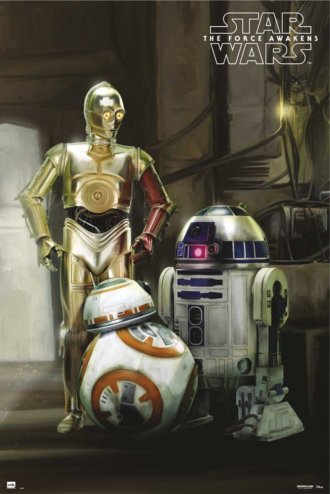 The Force Awakens Posters The Droids – R2D2, C3PO & BB-8