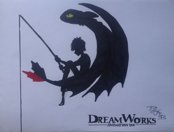 HTTYD Dreamworks sign