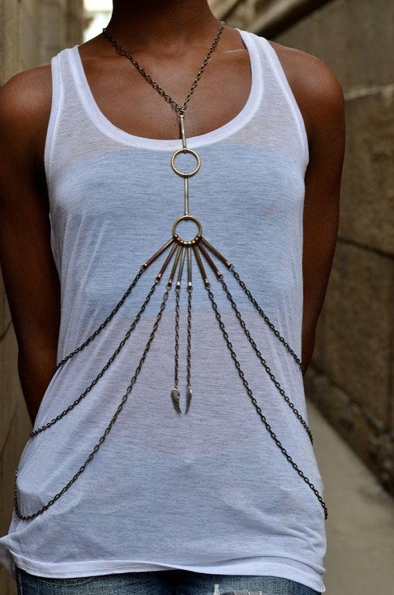 Tribal vintage body chain by CanDidArtAccessories via Etsy