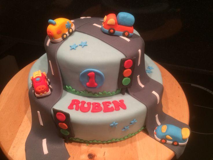 Toettoet-auto taart