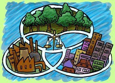 Desarrollo sustentable: Es un desarrollo que satisface las necesidades del presente sin comprometer la capacidad de futuras generaciones de satisfacer sus propias necesidades en el ámbito ecológico, económico y social.