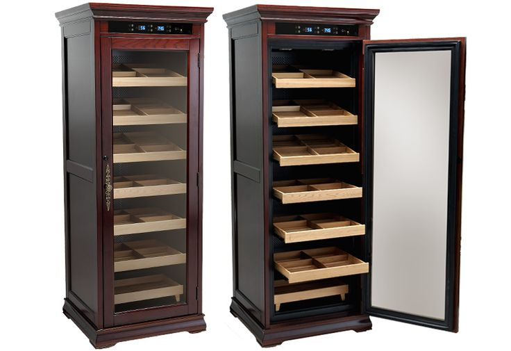 Electronic Cigar Humidor Cabinet - Adjustable Temperature & Humidity - Electric Controlled
