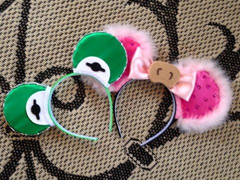 Jen's Magic Mouse Ears's Kermit and Miss Piggy ears!