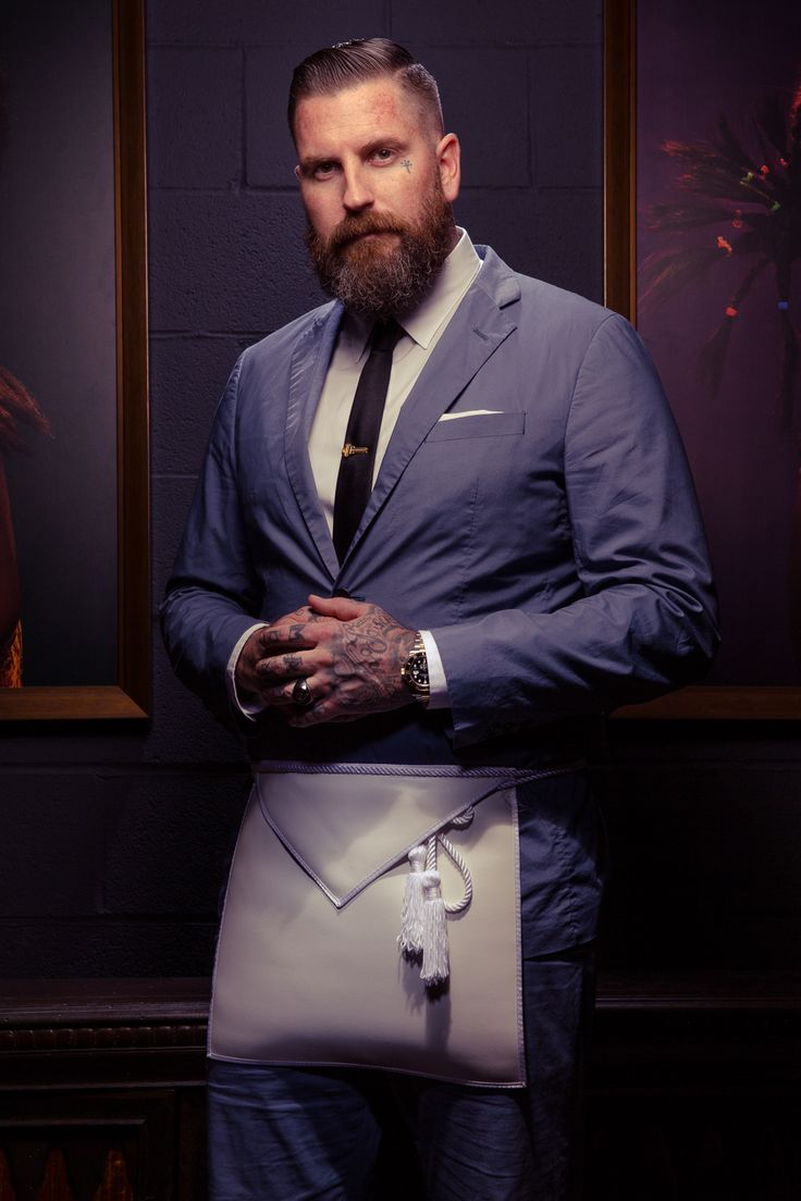 Tattoo Artist Luke Wessman Photographed for #Freemasons of California Magazine #gentlemaissue.