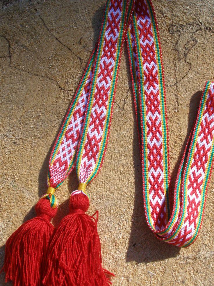 Ready to ship_Women Slavic woven Belt Sun and Earth_Russian Belt by WovenSlavicBelts on Etsy