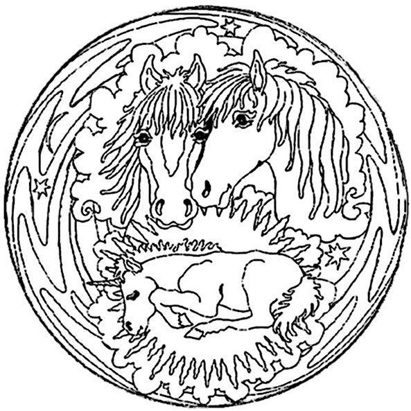 ausmalbilder mandala pferde zum ausdrucken inspirational