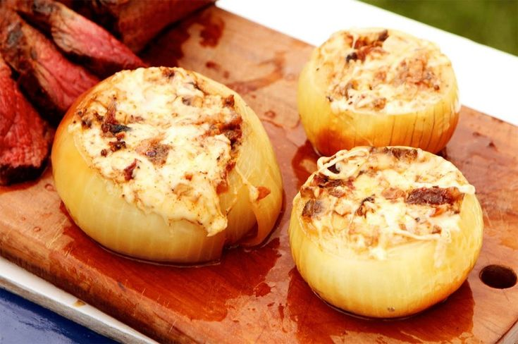 Cebollas al horno con carne y tocino - Mastrip.net