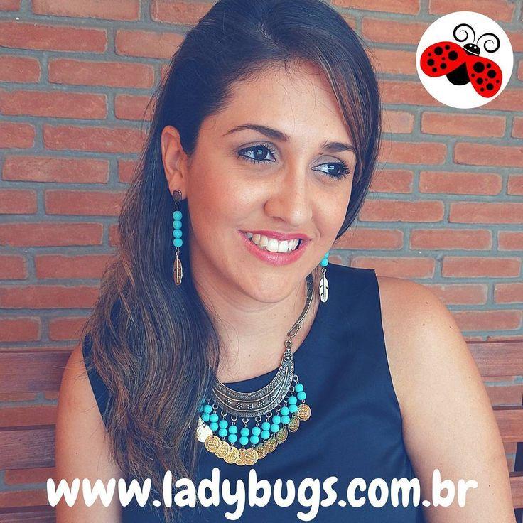 😍😍 Para você se encantar!😍😍 Brinco Folha Turquesa por R$ 22,50 e Colar Moedas Cigana por R$ 47,90 te esperando na loja 👉www.ladybugs.com.br🐞  #acessóriosfemininos #acessóriosmasculinos #acessorios #bijuteria #bijuterias #bijoux #biju #visitenossaloja #bijuteriaonline #novidades #trendalert #moda #tendencia #lojavirtual #lojaonline #look #instamoda #caraguatatuba #jundiai #saopaulo #colar #maxicolar #ciganinha #gypsy #brinco ##bohochic #feitocomamor #turquesa