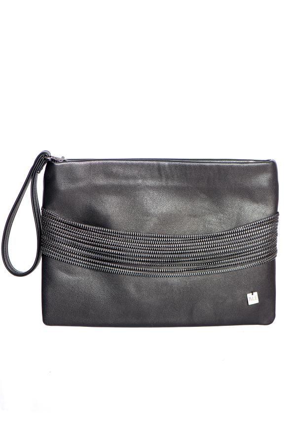 Τσάντα με διακοσμητικά φερμουάρ