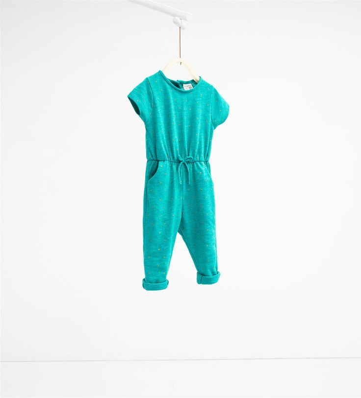 Jumpsuit with bow-DRESSES AND JUMPSUITS-BABY GIRL   3 months-3 years-KIDS   ZARA United States