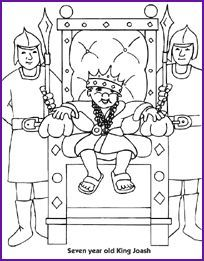 8 best sunday school joash images on pinterest sunday for King joash coloring page