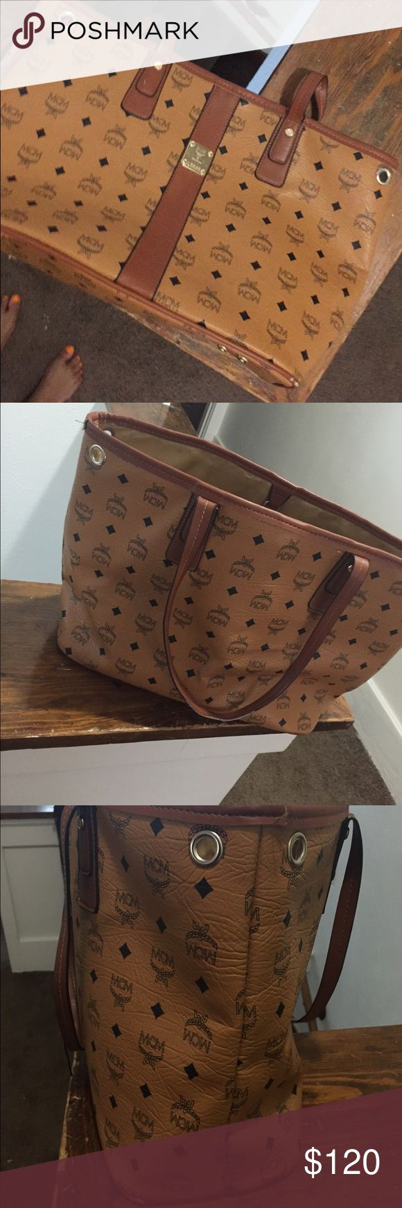 More pictures for MCM bag listing. Price reflects authenticity. Flaws are shown in pictures. 💖 MCM Bags Totes