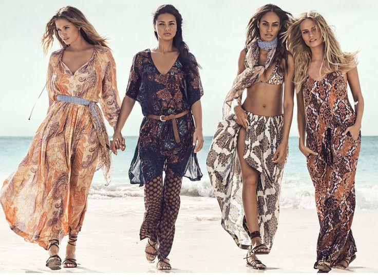 Joan Smalls, Natasha Poly, Doutzen Kroes y Adriana Lima son las protagonistas de la nueva campaña de verano H&M