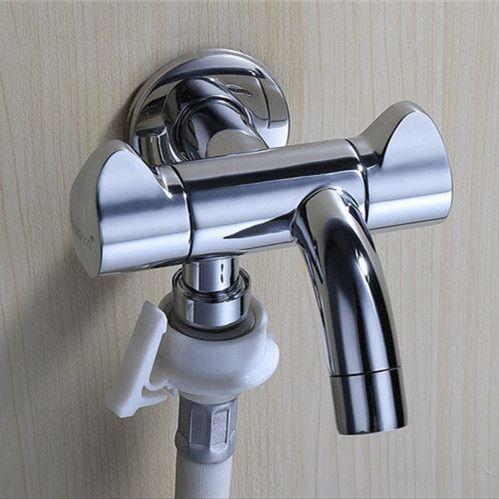 Wall Mounted Double Outlet Outdoor Garden Faucet Bathroom Faucets Wall Mounted Faucet Angle Valve