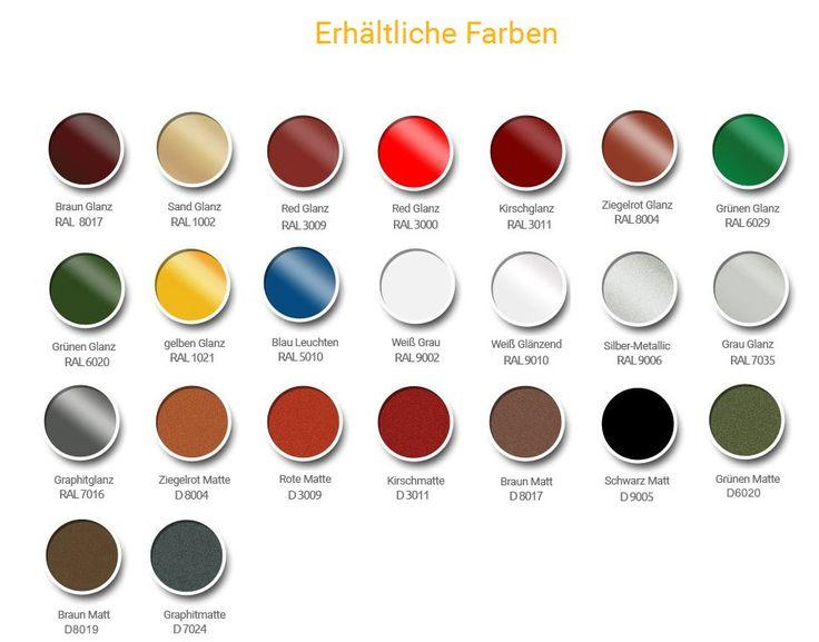 oben finden sie eine ral palette mit allen farben die sie whlen knnen