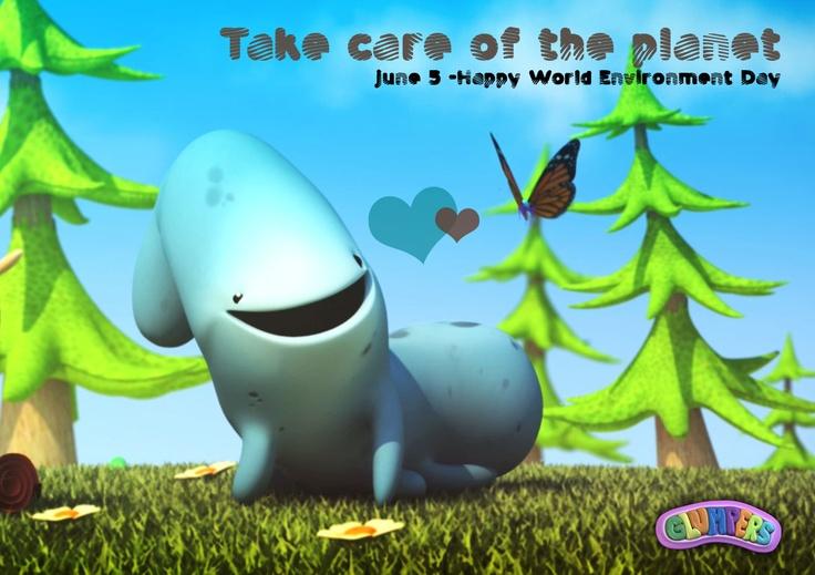 Hopefully we learn to enjoy the planet without damaging it. June 5, Happy World Environment Day!! Glumpers love nature ----- Los glumpers celebran el día Mundial del Medio Ambiente con la esperanza de que podamos llegar a disfrutar del planeta sin estropearlo! Feliz día para todos los que aman nuestro mundo!